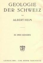 Heim: Die Geologie der Schweiz